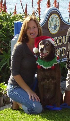 Kim and Sloan Christmas 2006, Newport Beach CA