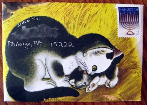 Shy Little Kitten envelope