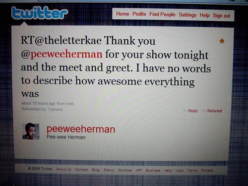 pee-wee & twitter