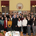 Sir Martin Evans (left of centre) with US Fulbright scholars