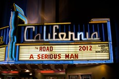 California Marquee (Chris Saulit) Tags: california cinema classic sign night vintage marquee berkeley theater neon theatre landmark historic signage 2012 theroad kittredge aseriousman