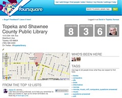 Library entry in foursquare