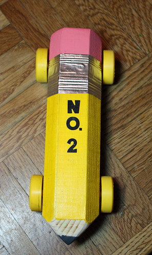 Ticonderoga No. 2 pencil derby car