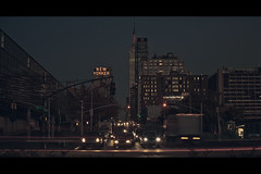 The empire of Lights (- Loomax -) Tags: street urban newyork cars sunshine skyline night book skyscrapers manhattan newyorker empirestatebuilding cinematic 169 frontpage rayoflight builings