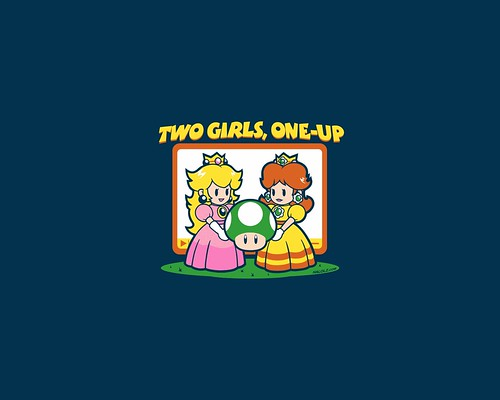 Two girls one up