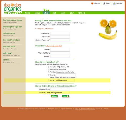 Door to Door Organics Discount Code