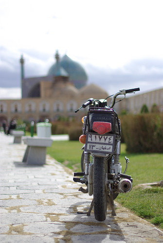 Bike waiting for the master to return. At Imam Square | Esfahan, Iran