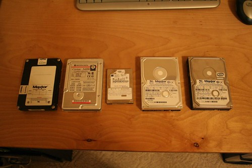 9 year of hard drives: '92 - '01