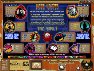 free Reel Crime 1 Bank Heist slot second level