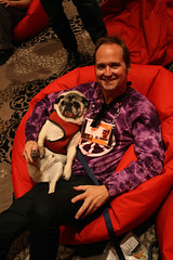 Dewey the pug and Robert