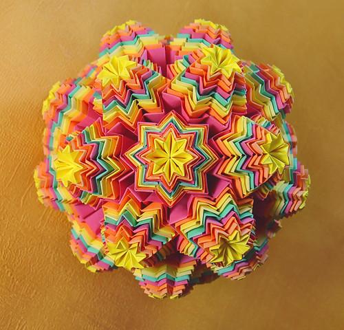 Rainbow Muffin Kusudama