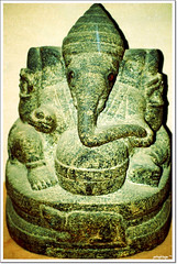 Elephant-headed Deity Ganesh (potophlayr) Tags: trip stilllife museum nikon malaysia historical hindu artifact thursday 50200mm kedah supernatural d60 archaelogical lembahbujang merbok