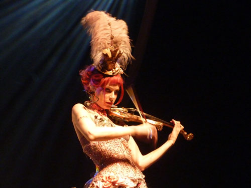 Emilie playing (Emilie Autumn show Luxembourg)