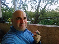 Out on my patio enjoying a cigar (ryanstaylor) Tags: mobile abundance magnetic magneticabundance