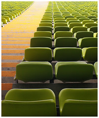 Green Seats (It's Stefan) Tags: orange verde green geometric sports lines linhas architecture germany munich mnchen bayern deutschland bavaria football athletics geometry stadium soccer  vert arena silla estadio seats perch olympia alemania olympic grn  naranja olympicstadium allemagne gomtrie stade germania sige lignes sillas  olympicgames geometria olympiastadion  lneas  asiento linien   intothelight estadioolmpico  sitzpltze olympischespiele gntherbehnisch    geomtrie   siege    stefanhoechst stefanhchst stefanhoechst