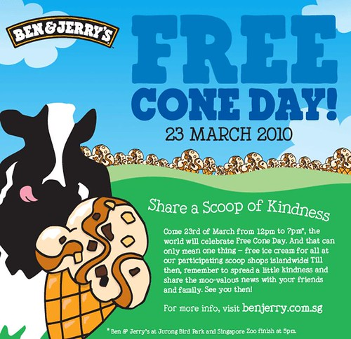 Ben and Jerrys Free Cone Day 2010 celebration on March 23 ...