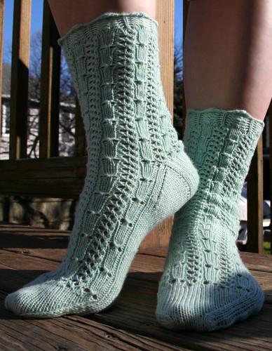 Knitting Pattern For Fancy Socks : FO   Fancy Merino Socks   Vickilicious Knits
