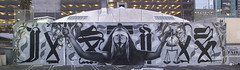 """Justice"" by Mac, Kofie, & Retna (elmac.net) Tags: art losangeles mac mural hollywood awr spraypaint ng aerosol brimstone elmac kofie uti retna yosisergant 33third edwinabbey alwayswearamask manifestequality ginalynmcnamara"