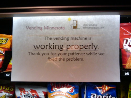 Vending Machine Branding - No Longer Broken