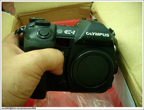Olympus E-1 received after service from Olympus Malaysia