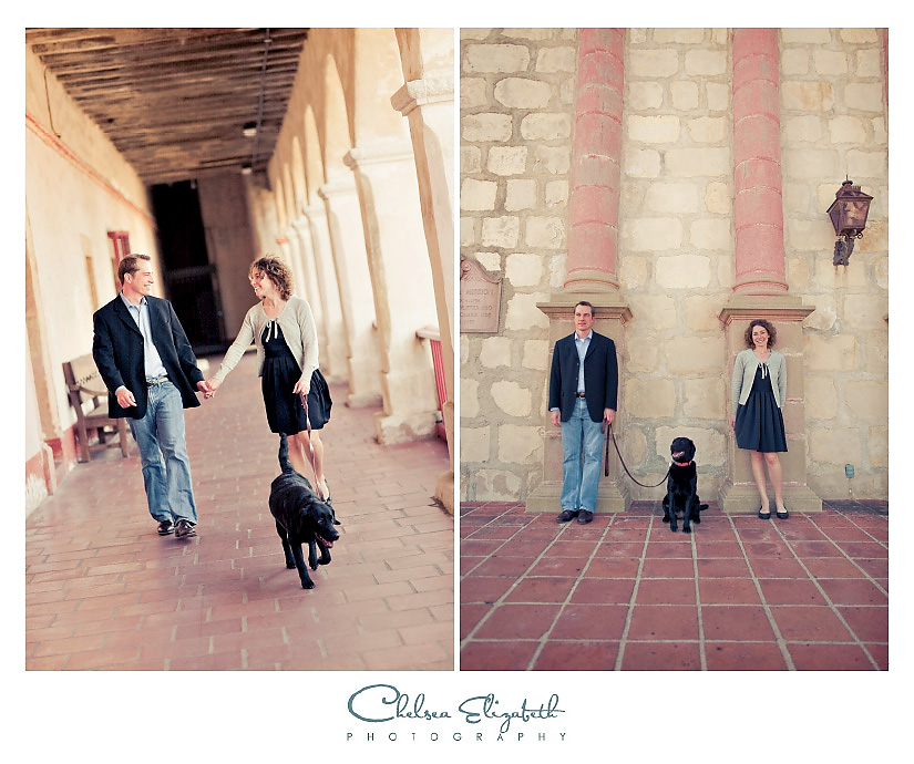 Santa Barbara Vintage Wedding Photography engagement