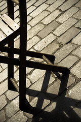place sorbier (teddave) Tags: shadow chair cobbles lattice