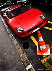 Ferrari F40 (Katrox - www.kevingoudin.com) Tags: red paris car rouge italian nikon ferrari exotic v nikkor rosso scuderia georges supercar italie afs maranello f40 vehicule extrem d300 f28g nikkor1755 175528 nikond300 afsdx1755mmf28g
