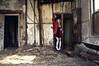 (yyellowbird) Tags: ohio selfportrait abandoned girl lockers hospital lima cari redcoatallthetime