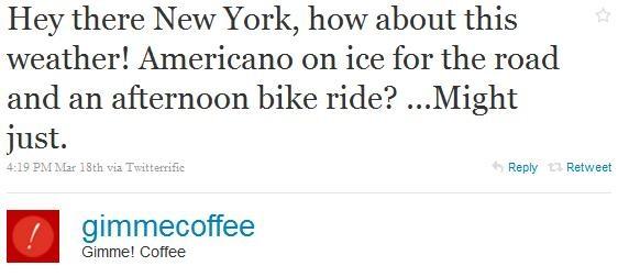 Coffee Retailer Twitter