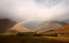 Chasing Rainbows (RoystonVasey) Tags: bridge west canon way eos scotland rainbow sigma railway explore highland jpg 1020mm orchy tyndrum a82 400d