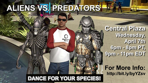 AVP Dance off in PlayStation Home