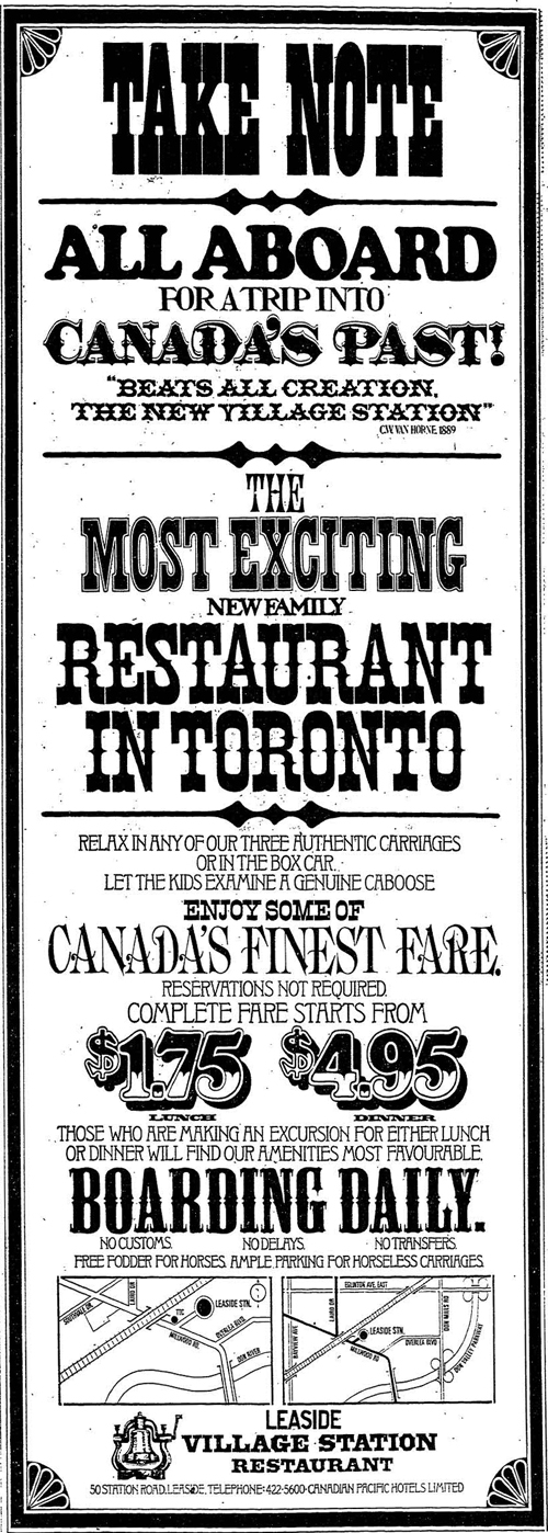 Vintage Ad #1,086: The Most Exciting New Family Restaurant in Toronto
