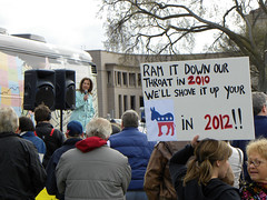 Michele Bachmann at the Tea Party Express rally in Minnesota (Fibonacci Blue) Tags: party signs minnesota liberty photo big bush tea small capital rally picture stpaul communist communism capitol health photograph reagan signage april government conservative express bachmann constitution twincities care activism republican fascism libertarian anti healthcare mn minn obama teabag protester insurance gop activist teaparty socialism 2010 protestor bagger partier teabagger socialized obamacare teapartyexpress