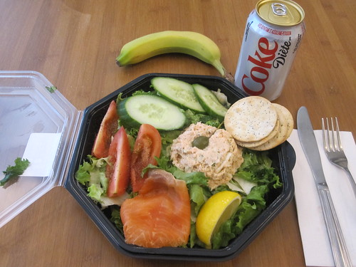 Diet Coke, salmon salad from Cartet - $11.25