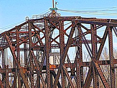 Rusty erector set (jimsawthat) Tags: abandoned rust decay bridges trains missouri hdr blight kcmo rivermarket kansascitymo railraods