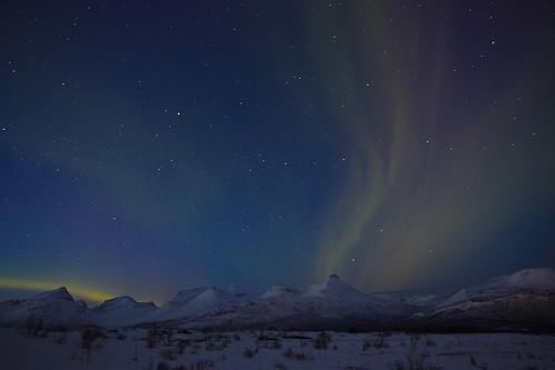 フリー写真素材, 自然・風景, 夜空, オーロラ, ノルウェー,