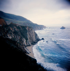 Big Sur on Film (tangent) Tags: california 120 holga bigsur slidefilm pacificocean coastline