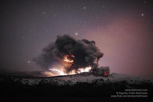 iceland volcano lightning wallpaper. Eyjafjallajokull volcano