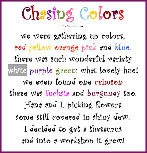 Writers Workshop Poem