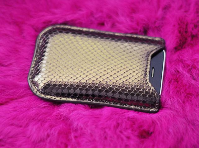 graphic image  bronze python iPhone case