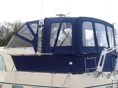 Broom Canopy (Boat Covers Ireland) Tags: ireland awning canvas shannon motorboat broom dodgers boatcoversireland broomcanopy aftcanopy boatcanopydesign boatcanopymanufacture