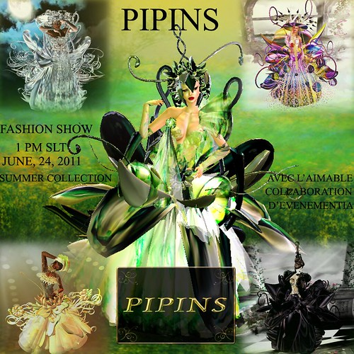 Pipins Fashion Show: 1pm SLT June 24th by ElaraGloriana Scrabblebat
