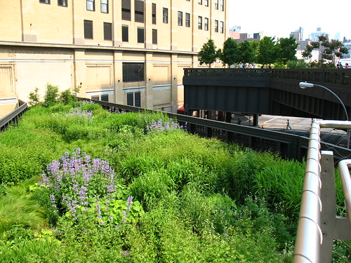 High Line, NYC: Nouthern spur, now deadends into building