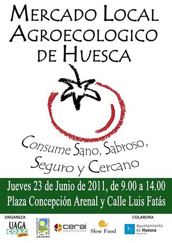 Cartel mercado Huesca