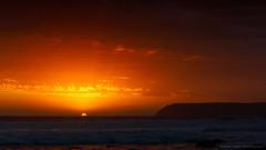 Venus Bay, South Australia (Robert Lang Photography) Tags: light sunset red sea summer sky orange sun seascape color colour smile yellow spectacular happy bay seaside amazing sand venus south sandy stock australian australia rays sa aussie sunrays southaustralia venusbay eyrepeninsula