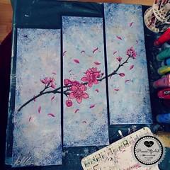 Pretty.Cherry.Blossoms (Sandys.PiecesOfArt.) Tags: sandyspiecesofart sandys piecesofart cherry blossoms kirschblüten ast zweig kirschblütenast zeitungspapier rosa blau newspaper art malerei acrylmalerei acrylaufleinwand acryl auf leinwand acryliconcanvas acrylic canvas brush pinsel acrylfarben colours pretty selfmade diy do it yourself lila blue kunst