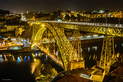 Bridge of Louis I. (Laszlo Horvath.) Tags: bridge louis i duoro porto night lights portugalia ponte nikond7100 sigma1835mmf18art