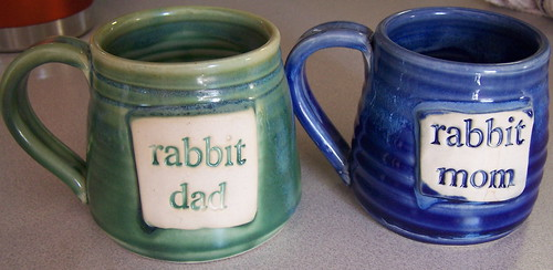 Rabbit parent mugs!