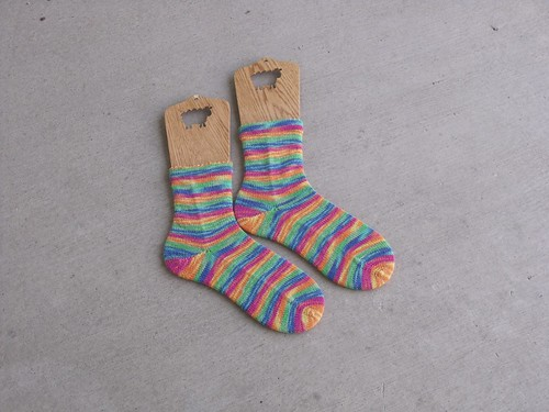 Toe up Regia Socks