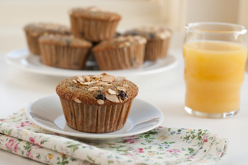 Blueberry Buttermilk Bran Muffins-9